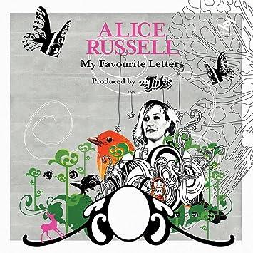 Resultado de imagen de alice russell my favorite letters