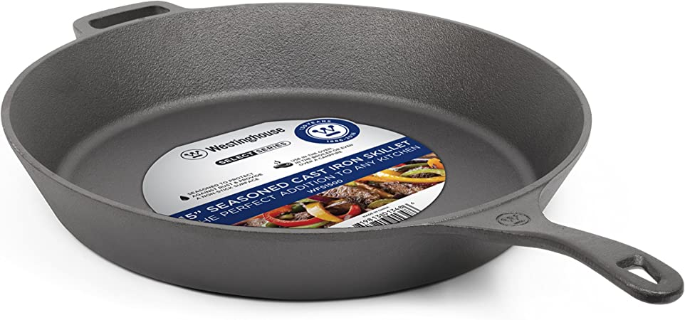 Westinghouse WFS1500 Series Seasoned Cast Iron 15-Inches Skillet