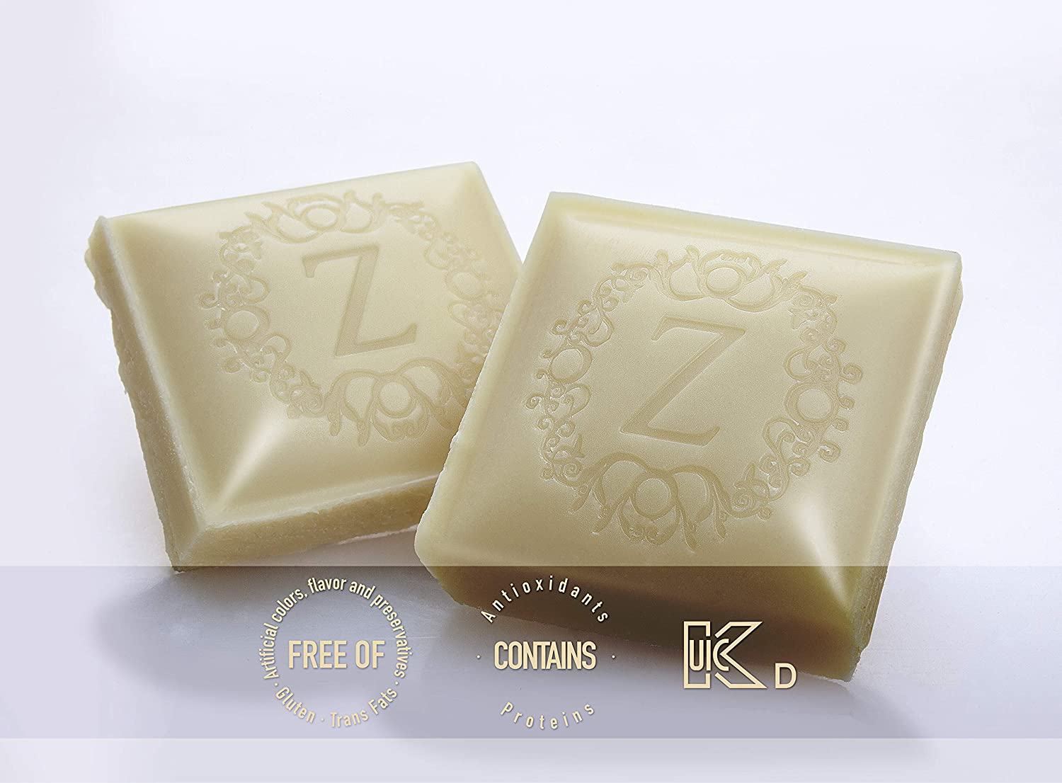 1.76Oz WHITE CHOCOLATE 12-Pack - 31.5% Extra-Fine Cacao - Gluten-free, Certified Kosher...