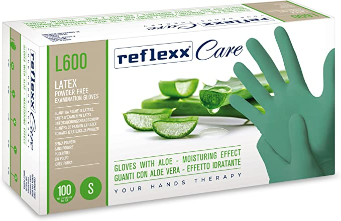 Pack of 100 Reflexx N320//XS Disposable Glove with Colloidal Oatmeal Nitrile