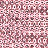 Tissu coton cretonne étoiles asanoha - Rouge & blanc