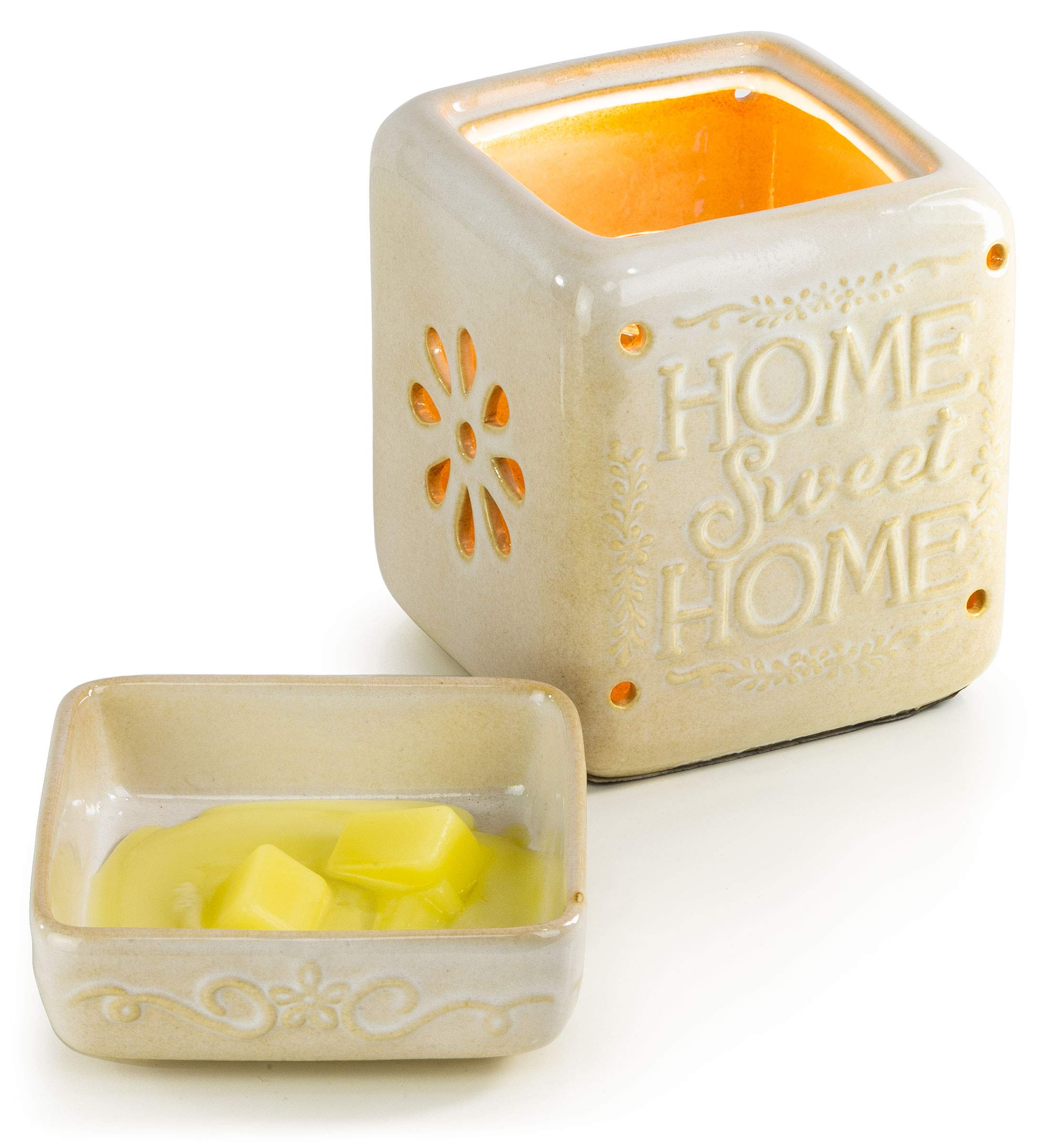 Ceramic Fragrance Warmer (Home Sweet Home) by VP Home (Image #4)