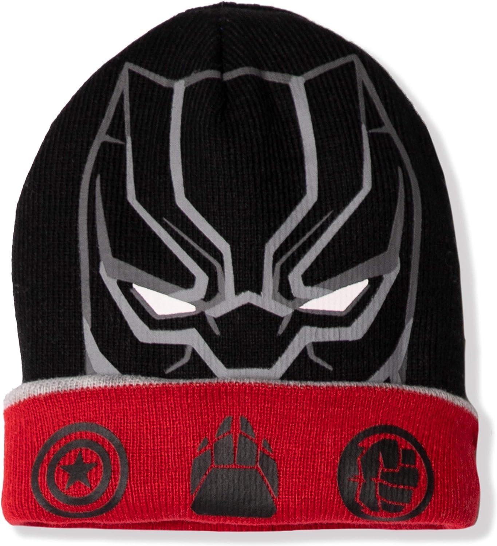 Marvel Original The Avengers 2-9 Anni Berretto Invernale Reversibile 2 in 1 Capitan America//Pantera Nera