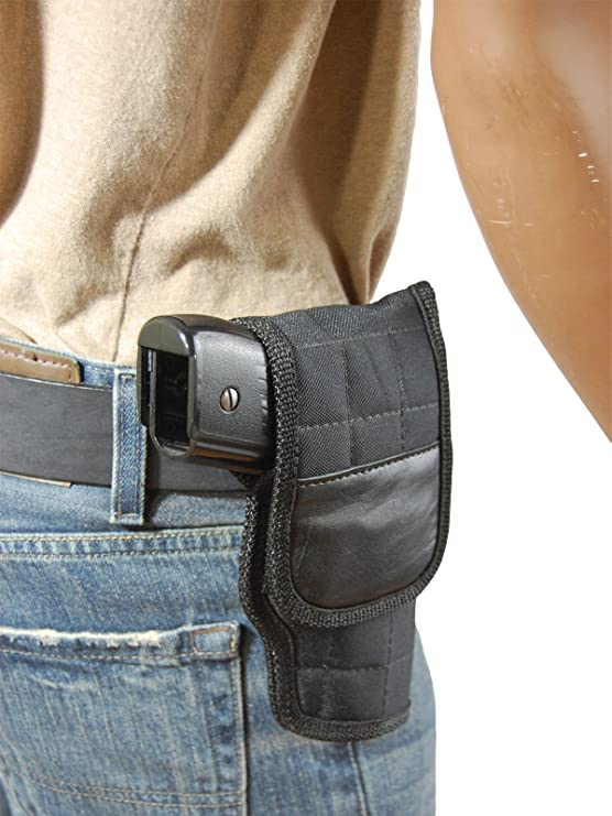 New Barsony Black Leather Flap Gun Holster CZ EAA Compact Sub-Compact 9mm 40 45
