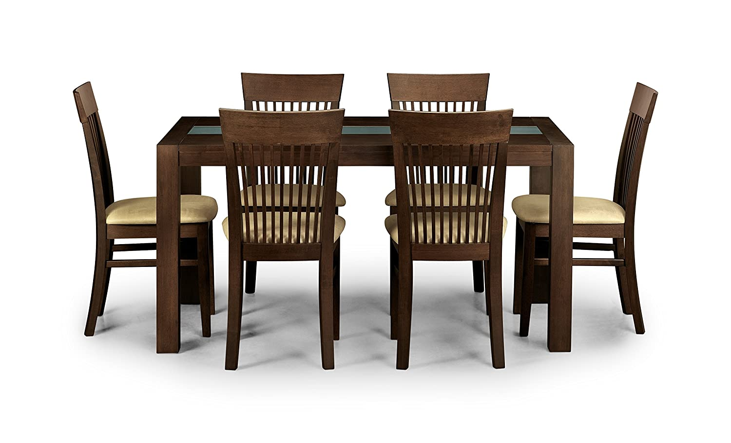 Magnificent Julian Bowen Santiago Dining Table Set With 6 Chairs Dark Wood Onthecornerstone Fun Painted Chair Ideas Images Onthecornerstoneorg