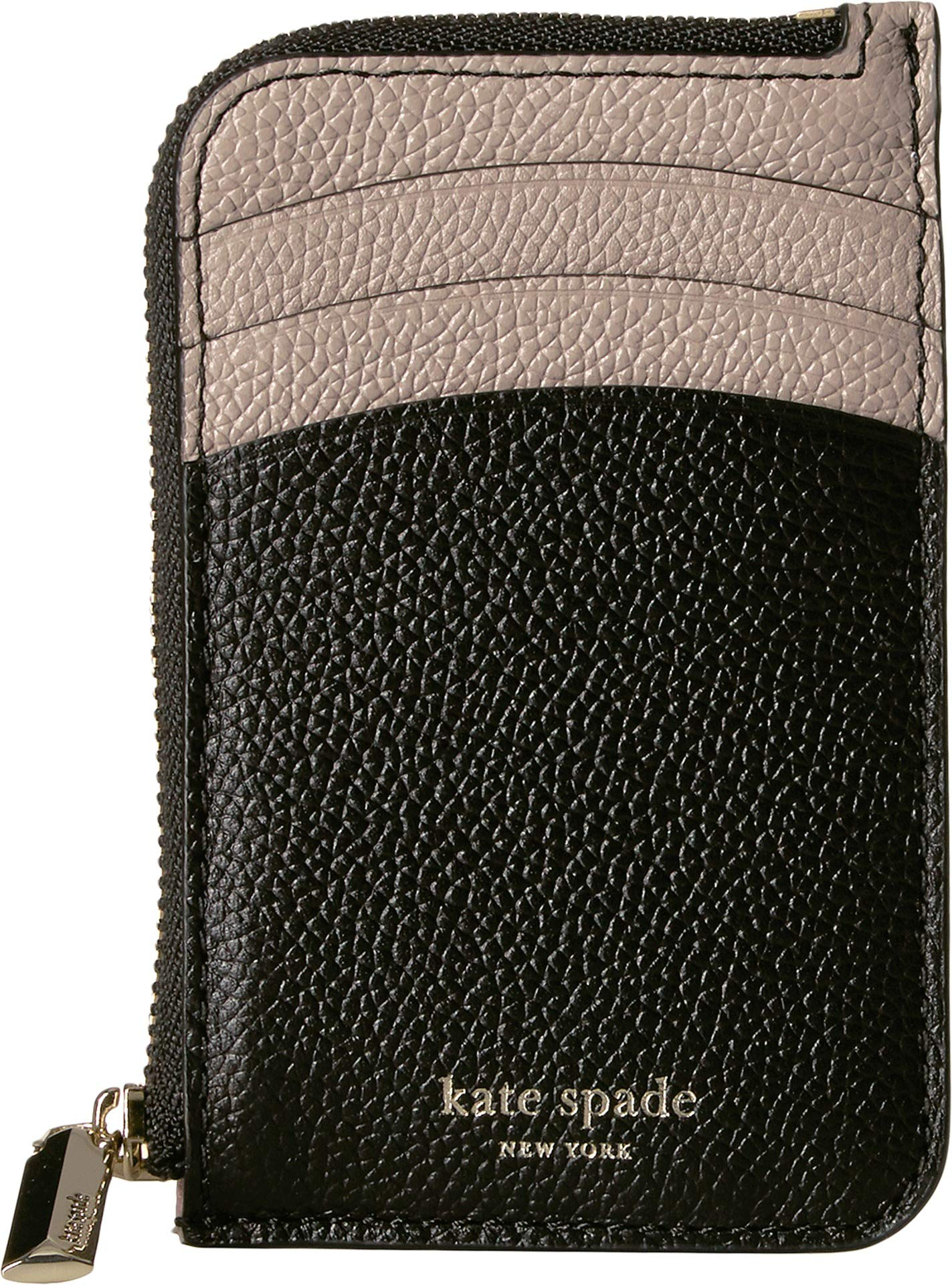 Kate Spade New York Women's Margaux Zip Card Holder Black/Warm Taupe One Size by Kate Spade New York