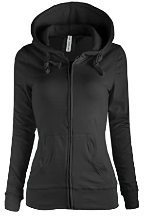 TL Women's Comfy Versatile Warm Knitted Casual Zip-Up Hoodie ...