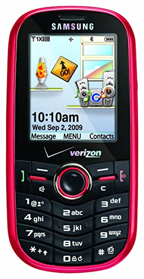 amazon com samsung intensity flamingo red verizon wireless cell rh amazon com Samsung SCH-U460 Battery Samsung SCH U640 Manual