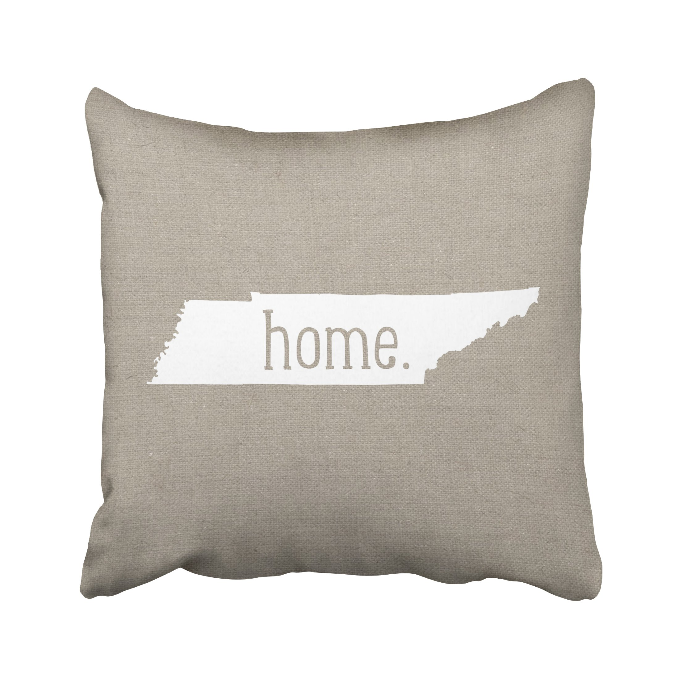 ONELZ Tennessee Home State Square Decorative Throw Pillow Case, Fashion Style Zippered Cushion Pillow Cover (20X20 inch)