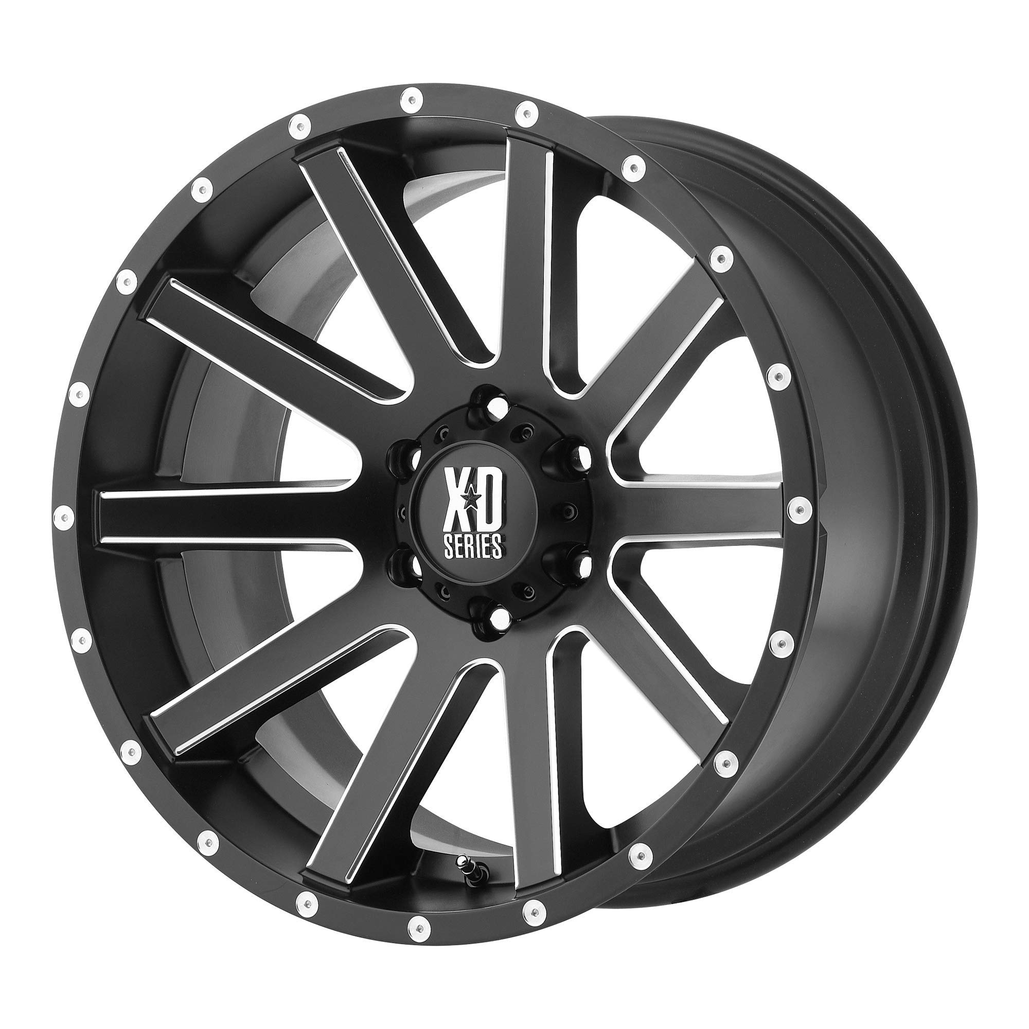 Moto Metal MO970 Gloss Black Wheel Machined With Milled Accents 17x9//6x135,139.7mm, -12mm offset