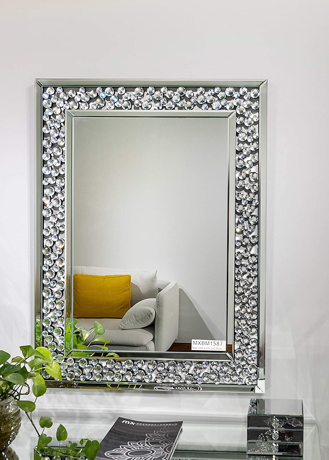 """Art Decorative Wall Mirrors Large Grecian Venetian Mirror for Hotel Home Vanity Sliver Mirror (27.5"""" x 43.3"""")"""