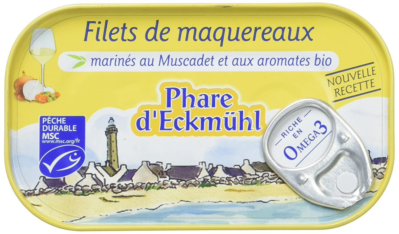 Phare d'Eckmül Maquereaux Filets MSC Muscadet Bio 118 g