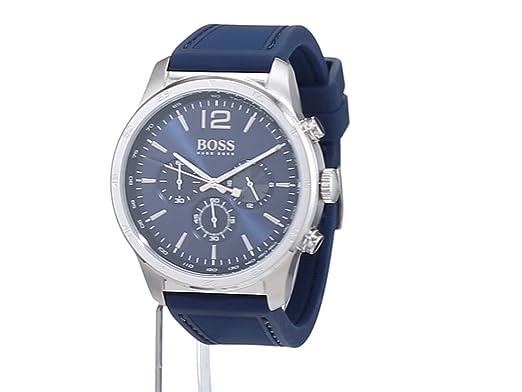 ecb501e0848a Hugo BOSS Reloj Cronógrafo para Hombre de Cuarzo con Correa en Silicona  1513526  Amazon.es  Relojes