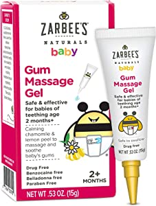 Zarbee's Naturals Baby Gum Massage Gel, 0.53 Ounce, Safe & Effective for Babies of Teething Age