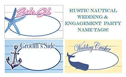Wedding Name Tags Rustic Coastal That Ignite Conversation Keep Your Hip