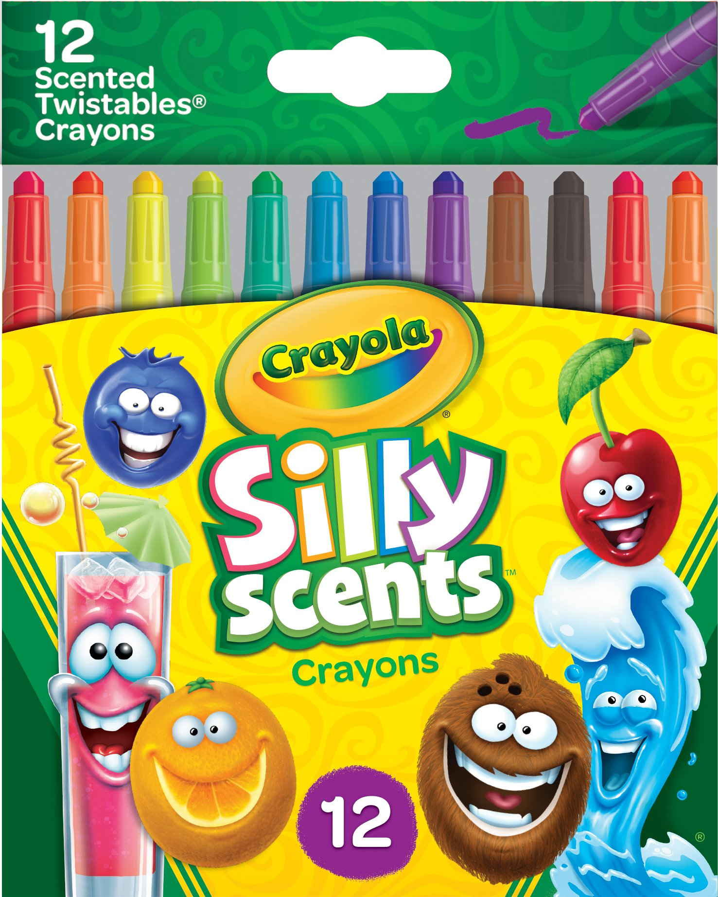 Crayola 12 Ct. Silly Scents Mini Twistables Scented Crayons - 52 ...