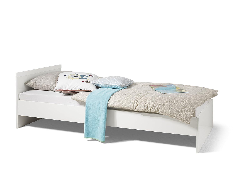 Wellemöbel, Milla Bett 90 x 200 cm Alpinweiß/Kristallweiß 61188 ...