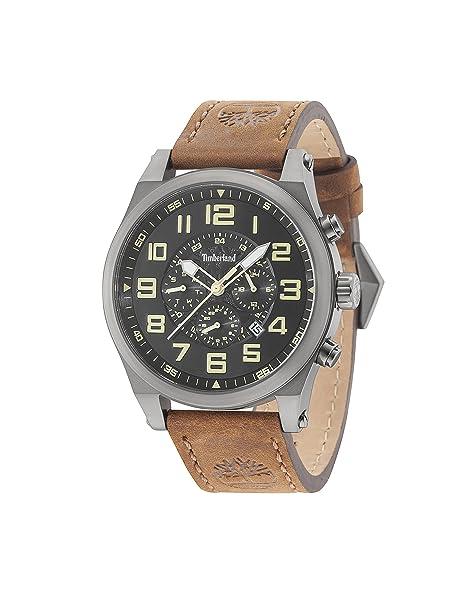 Timberland Reloj Multiesfera para Hombre de Cuarzo con Correa en Cuero 15247JSU/02: Amazon.es: Relojes