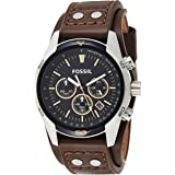 Fossil Men's Coachman Quartz Stainless Steel and Leather Casual Cuff Watch
