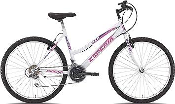 Bicicleta de montaña Esperia, MTB, para Mujer, Color Blanco, 26 ...