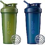 Blender Bottle Classic Loop Top Shaker Bottle, Moss/Moss and Navy/Navy, 28-Ounce 2-Pack