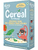 Slurrp Farm Cereal, Wholewheat, Moong, Rice, Spinach and Tomato with Milk, 200g