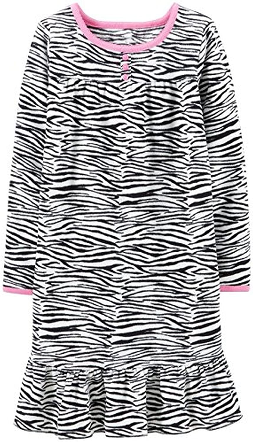 ec051437d Amazon.com  Carter s Girl s Size 4 5 Fleece Zebra Print Nightgown ...