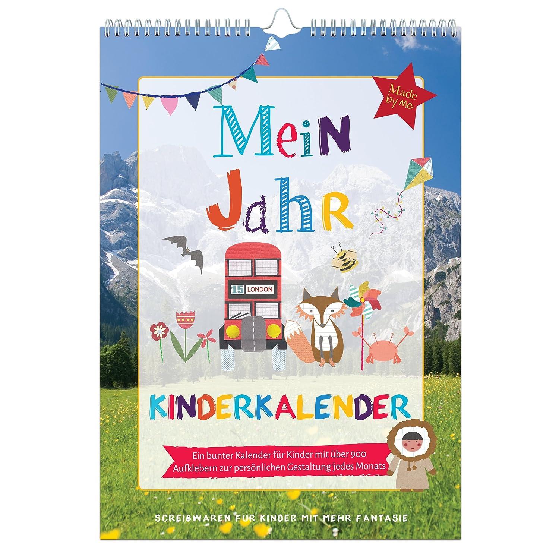 Organised Mum Mein Año Niños Calendario. monatlicher ...