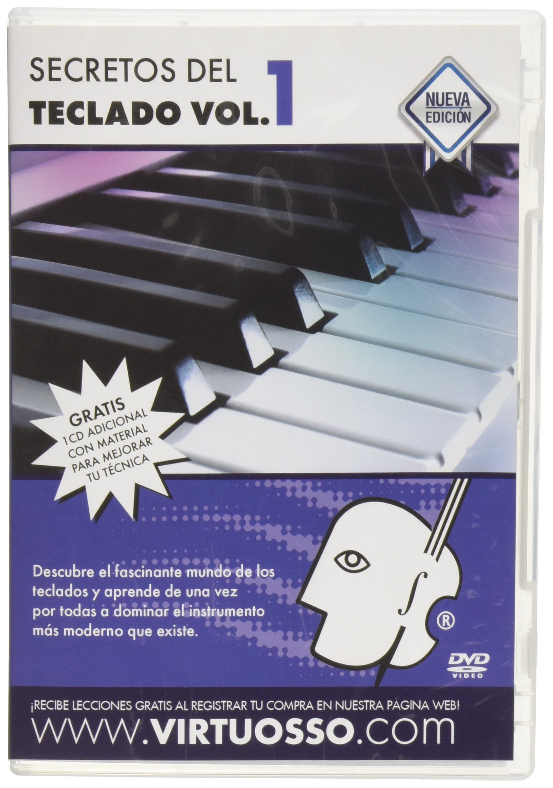 Virtuosso Musical Keyboard Method for Beginners 3 DVD (Curso Completo De Teclados Para Principiantes En 3 DVD) SPANISH ONLY by Virtuosso