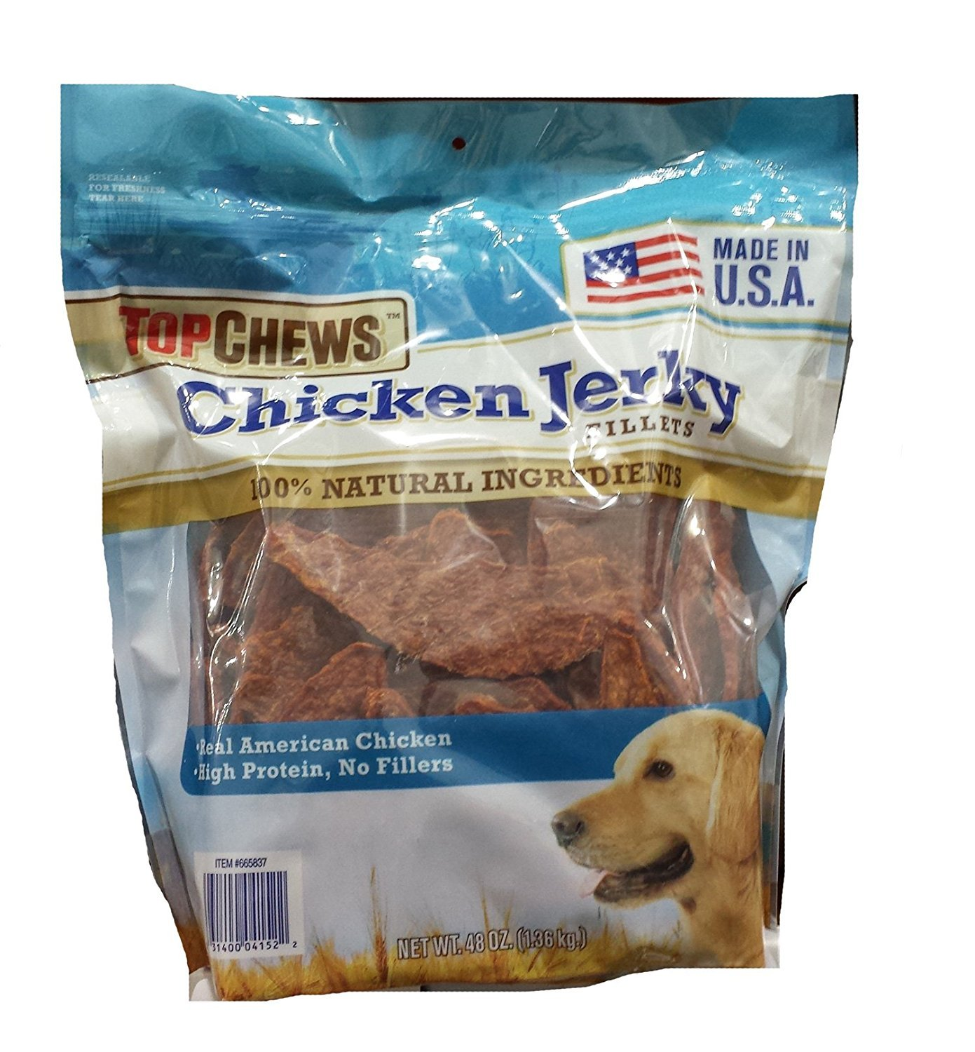 Top Chews Chicken Jerky 1Pack ( 48oz Each) Nkvlcd by Tyson top chews chicken jerky 48oz