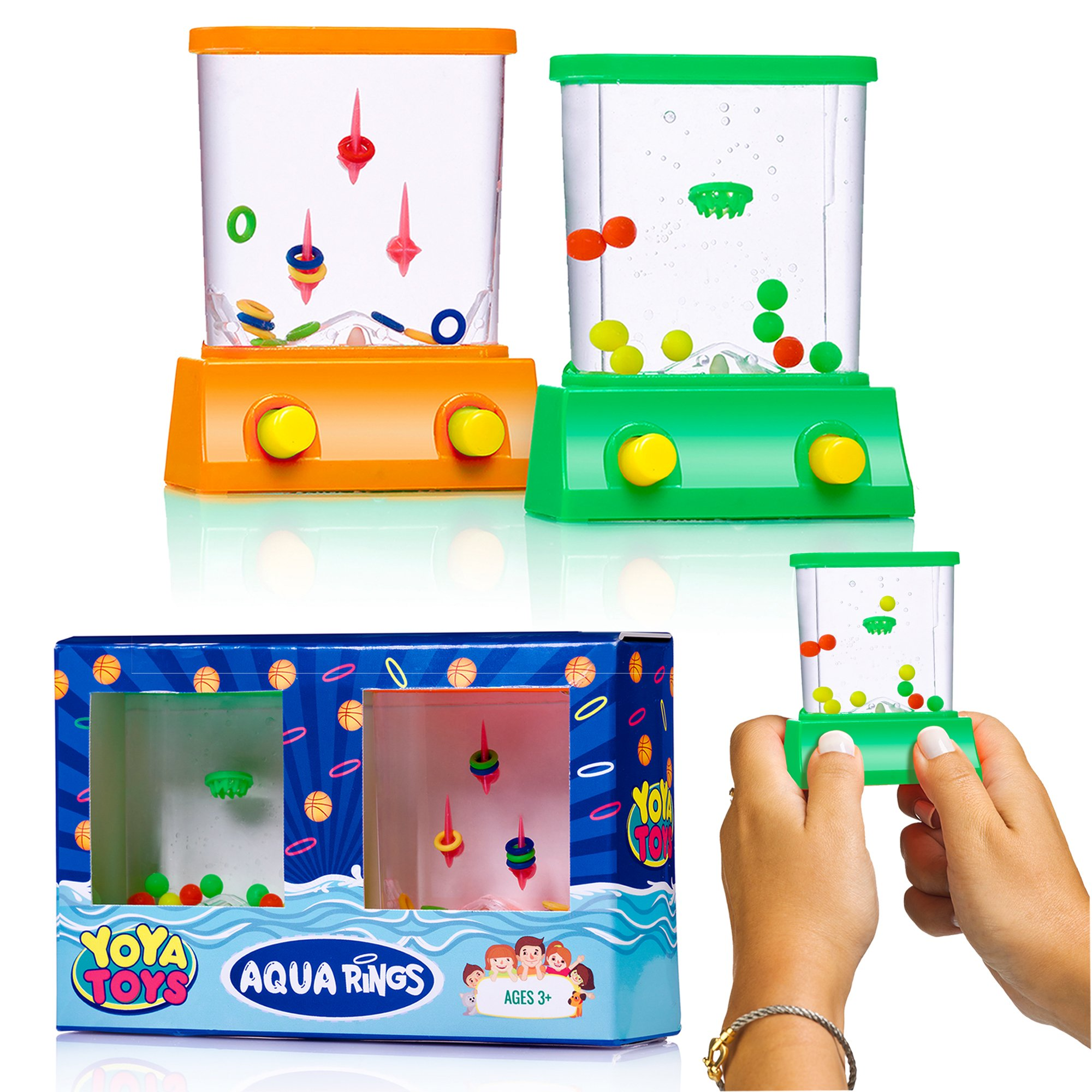 Water Game Toy : Amazon handheld water game rings colors may vary