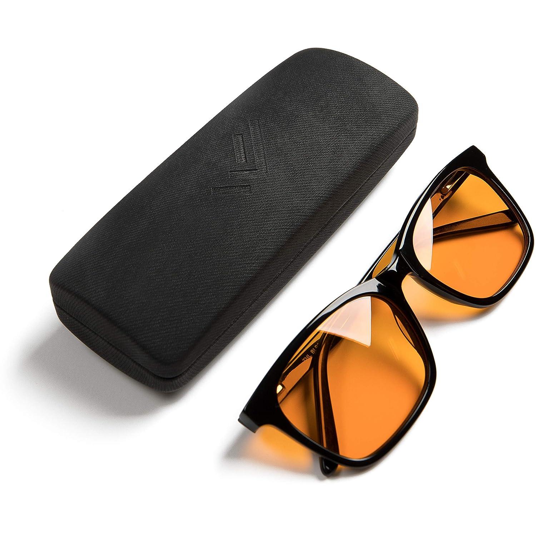 THL Sleep - Gafas de bloqueo de luz azul, tamaño grande, para ordenador y juegos, para una mejor noche de sueño, filtro, luz de pantalla azul artificial, ...