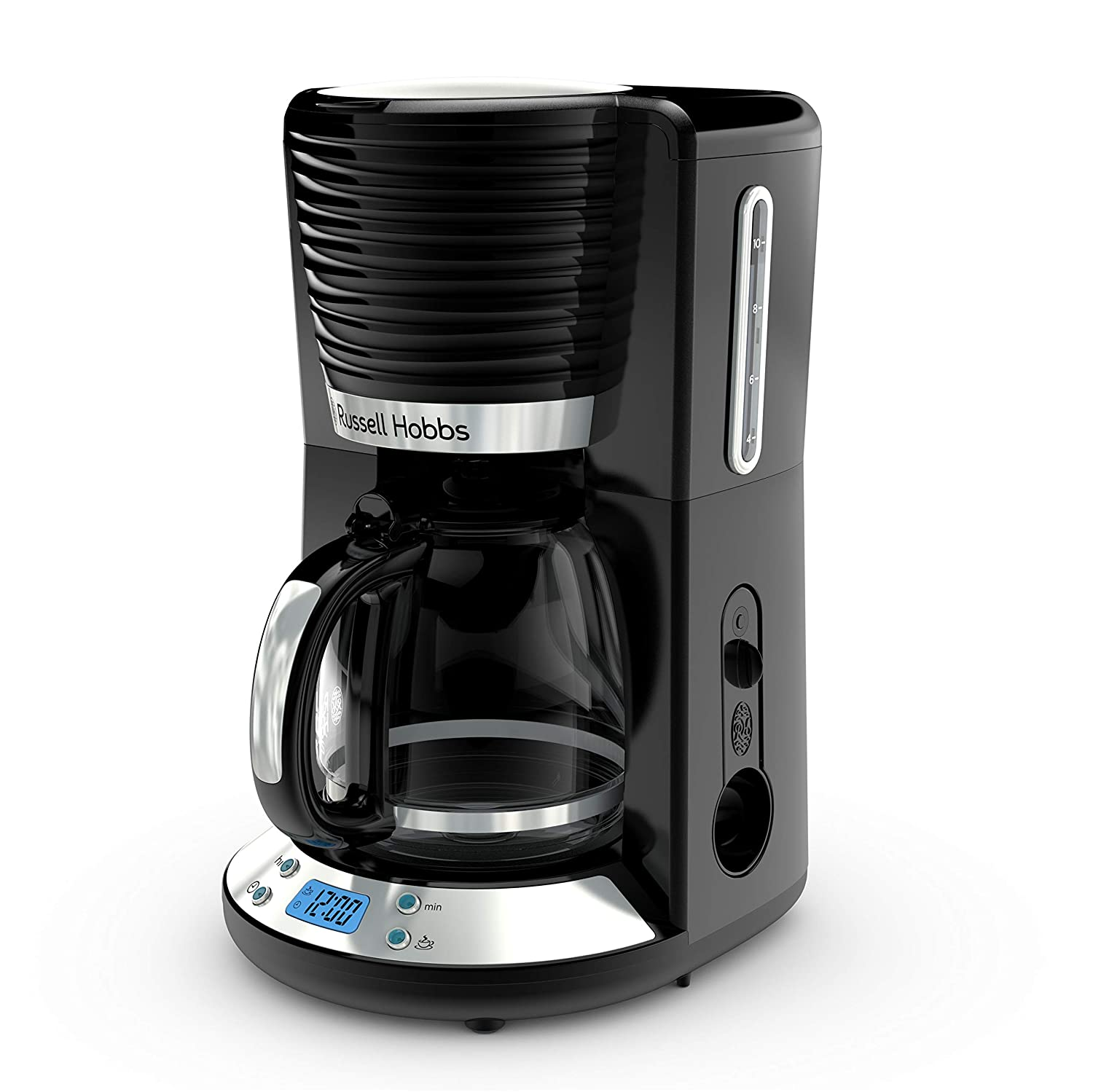 Russell Hobbs CM4300BR Coventry 8-Cup Coffeemaker, 1.25L (42-oz.) Capacity Glass Carafe, Black