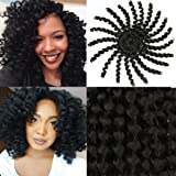3 Pcs Wand Curly Braids 8 Inch Natural Black Jamaican Bounce African Collection Crochet Braiding Hair Havana Mambo Twist…