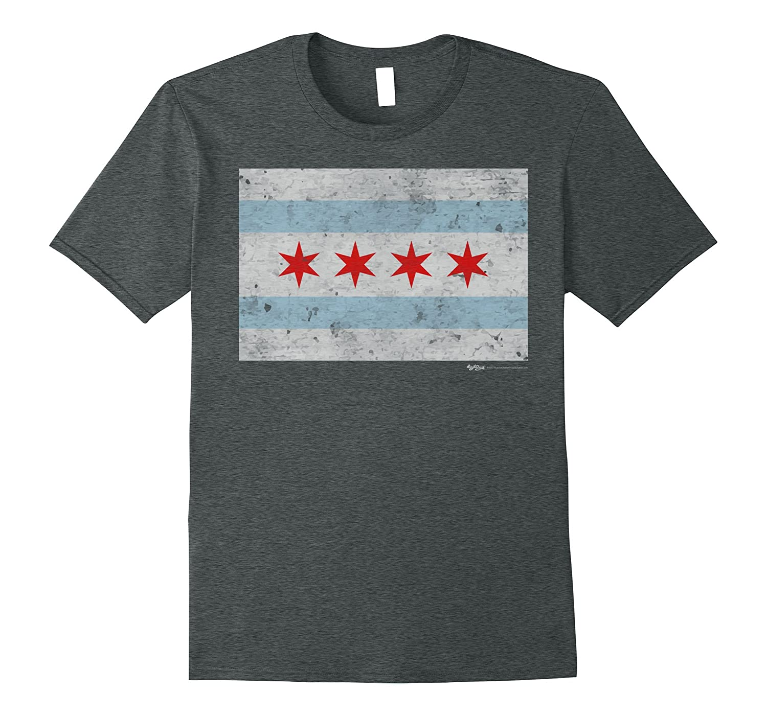 Vintage Chicago Flag T Shirt Hntee Com