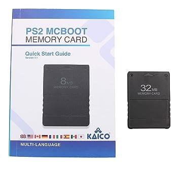McBoot FMCB 1.966 Tarjeta de memoria 32MB para la Sony Playstation ...