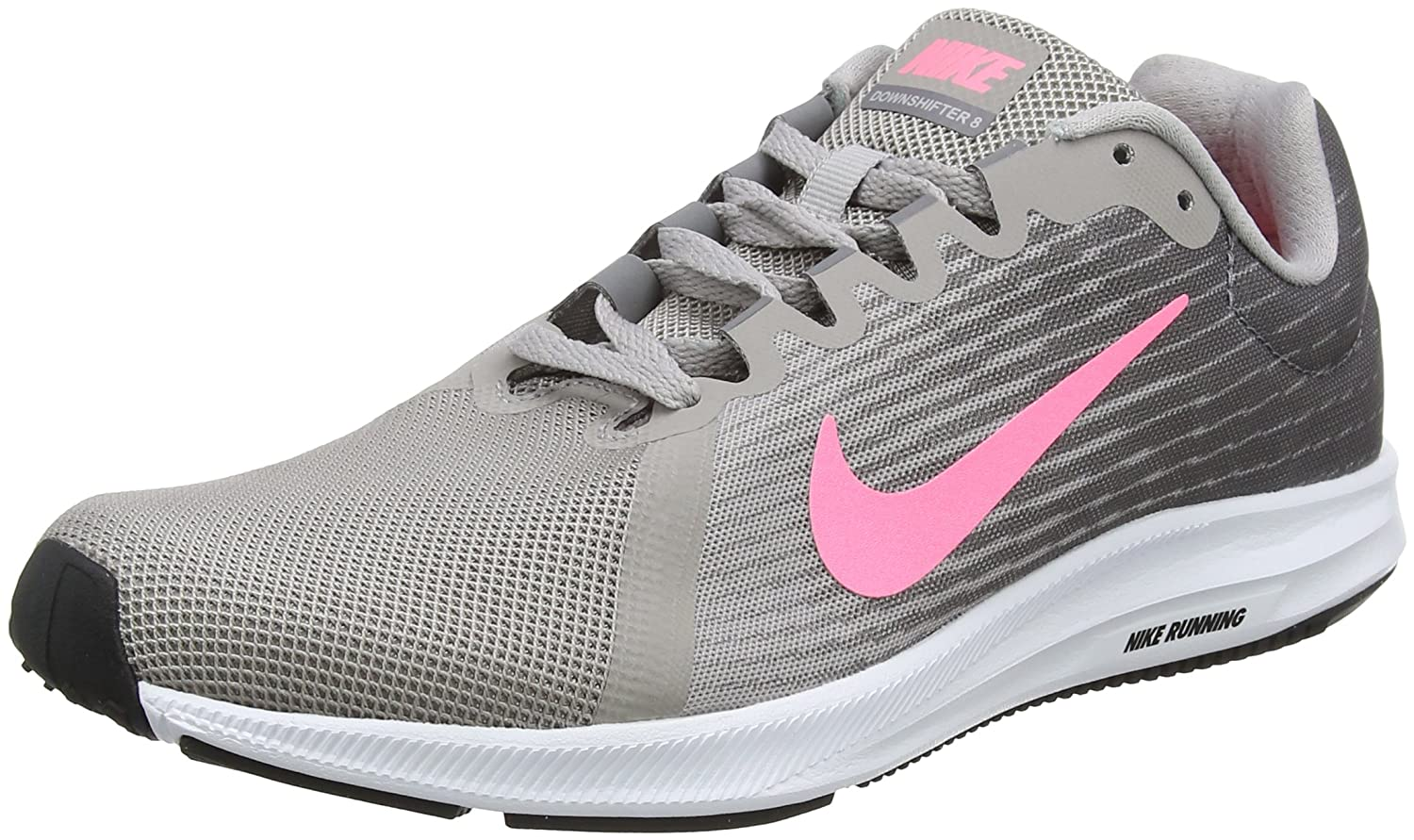 Nike Wmns Downshifter 8, Zapatillas de Running para Mujer 39 EU|Gris (Gunsmoke/Sunset Pulse-atmosphere Grey 004)