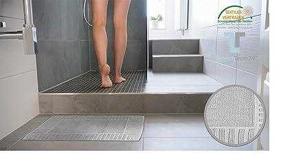 Keymura tappetino da bagno in grigio design atene cotone