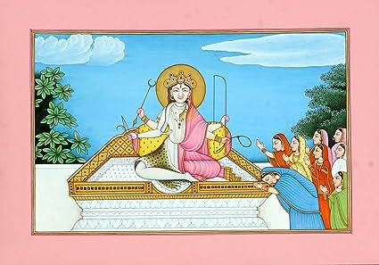Devi Kameshwari - The Oneness of Shiva and Shakti - Water Color