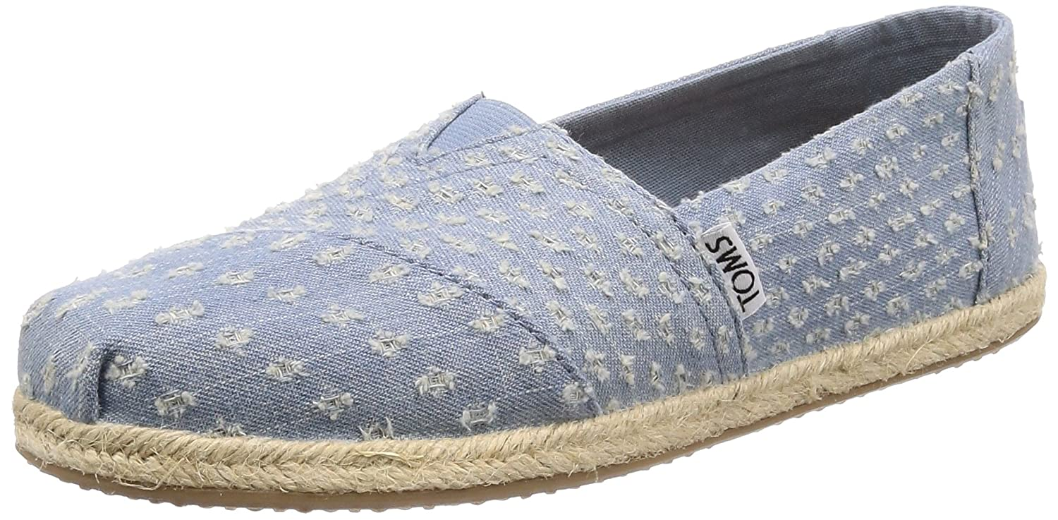 7f0bae2158a TOMS Womens Classics Torn Denim Rope Sole Espadrille Pumps in Seaglass   Amazon.co.uk  Shoes   Bags