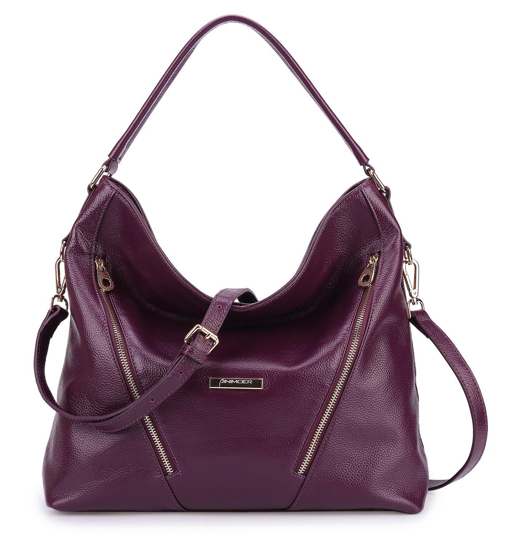 BIG SALE-AINIMOER Womens Leather Vintage Shoulder Bag Ladies Handbags Tote Top-handle Purse Cross Body Bags (Purple)
