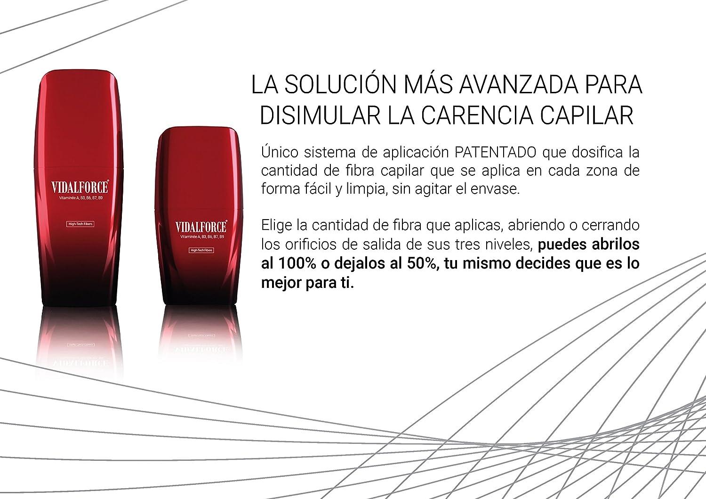 VidalForce Fibras Capilares Naturales Castaño Oscuro 25 gr Aumenta el volumen y grosor del cabello: Amazon.es: Belleza