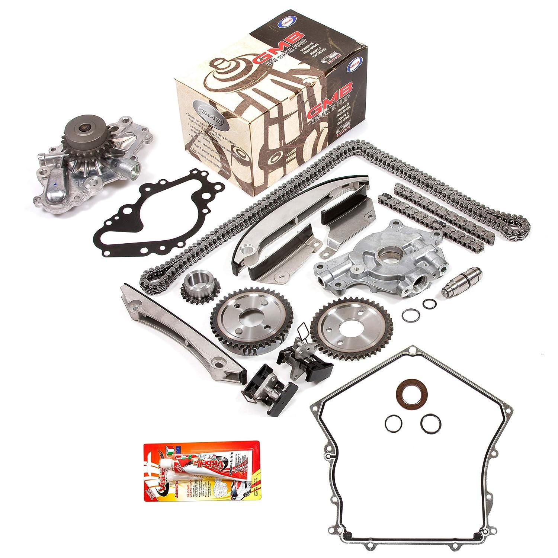 T Fits 02-06 Dodge Chrysler 2.7 DOHC 24V VIN R U Timing Chain Kit Oil Pump GMB Water Pump Timing Cover Gasket