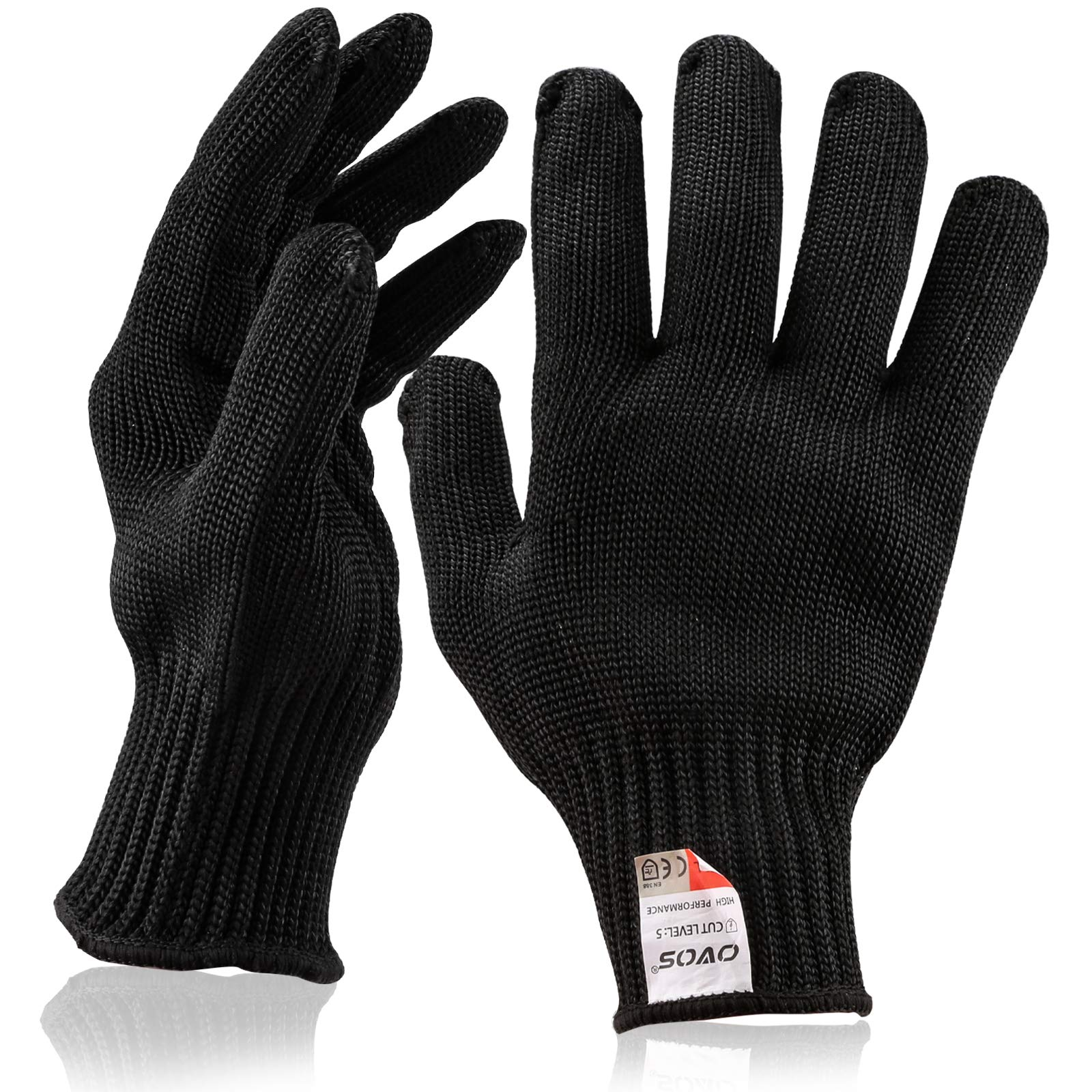 OVOS Work Gloves Stainless Steel Wire Mesh Gloves Cut Resistant, Safety Work gloves Anti-Slash Cut Static Resistance Protect Gloves - Resistant Level 5 Cut Protection