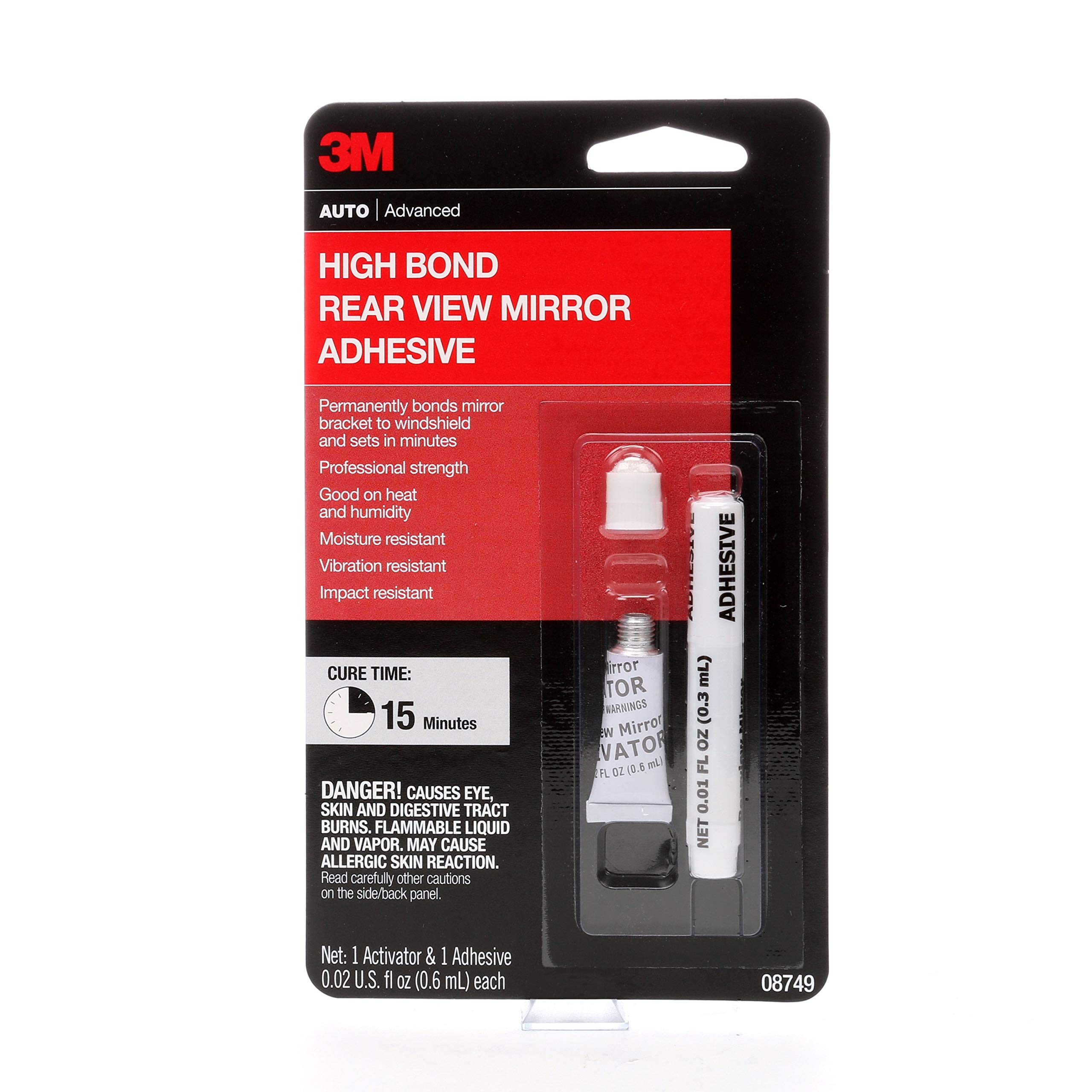 3M High Bond Rearview Mirror Adhesive, 08749, 0.02 fl oz