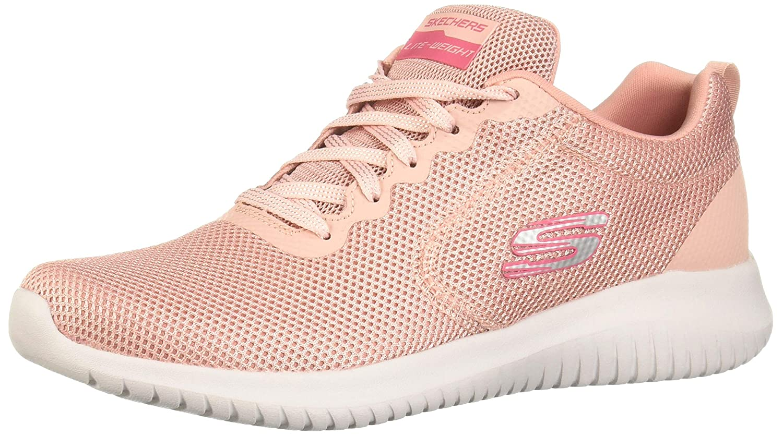 Pink Skechers Womens Ultra Flex - Free Spirit Sneaker