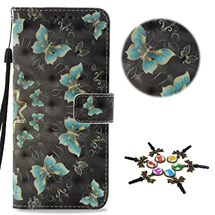Stenes Lg Aristo 2 Case Draw Butterfly Series Flip Wallet Credit Card Slots Fold Stand