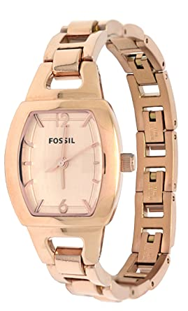 Fossil Rose Gold Tone Analog Mini Stainless Steel Womens Watch BQ1069