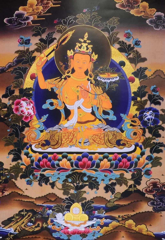 Amazon.de: Thangka Manjushri Bodhisattva der Weisheit Kunstdruck im ...