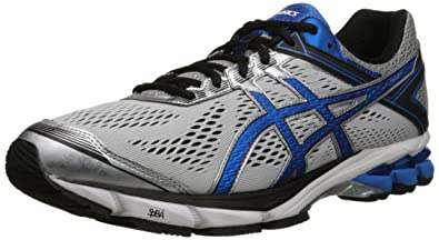 ASICS Men's GT 1000 4 Running Shoe, Silver/Electric Blue/Black, 8